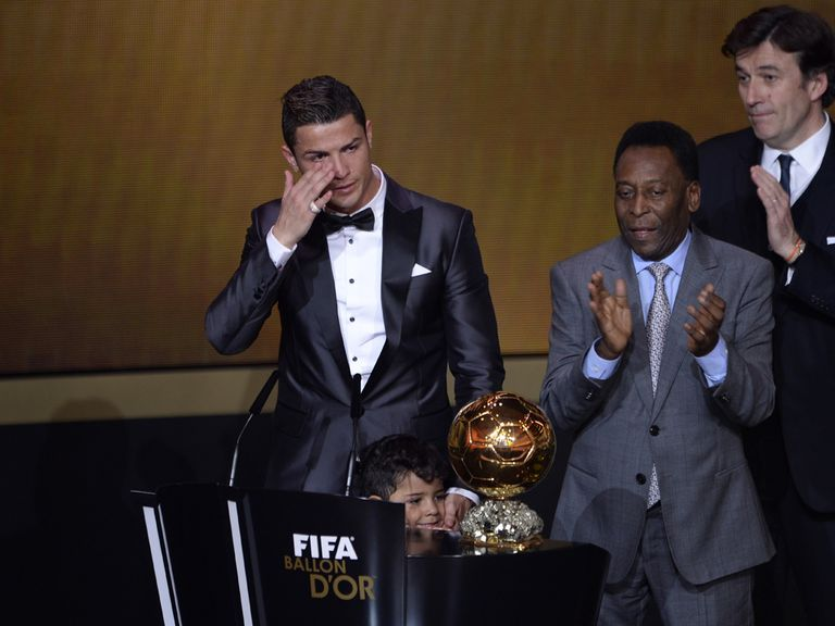 An emotional Cristiano Ronaldo won the Ballon d'Or