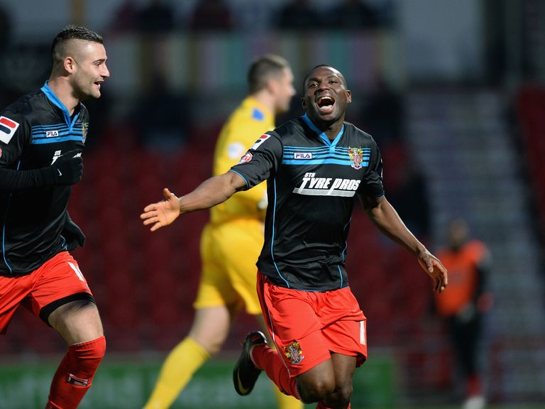 Francois Zoko of Stevenage: Scored on Saturday