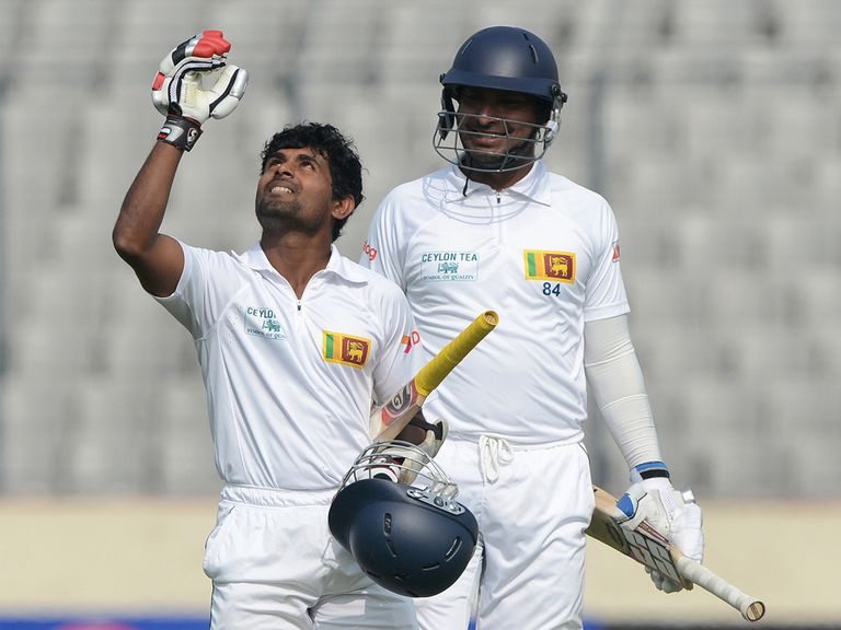 Kaushal Silva celebrates his century