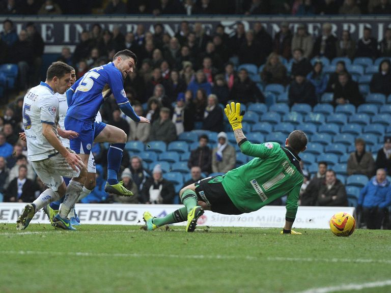 David Nugent scored Leicester's winner at Leeds.