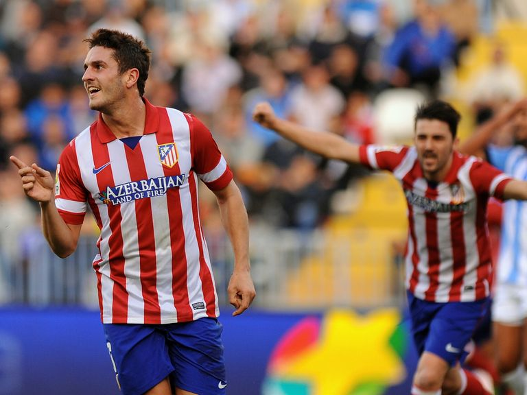 Koke celebrates after scoring for Atletico