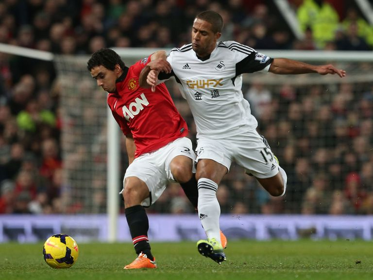 Rafael in action against Swansea