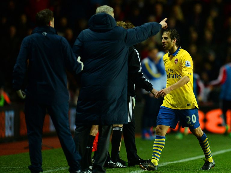 Mathieu Flamini sees red as Arsenal are held at Southampton
