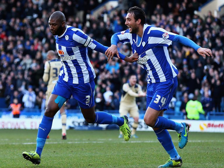 Reda Johnson celebrates for Sheffield Wednesday
