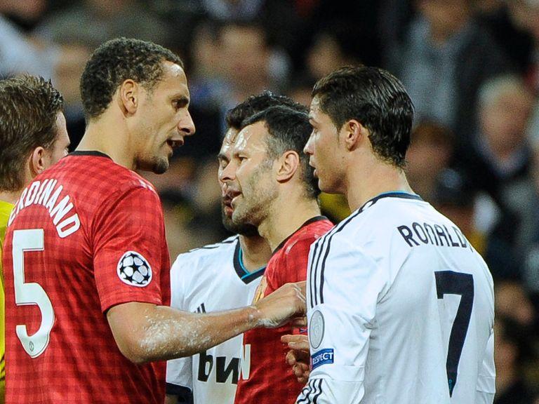 Rio Ferdinand and Cristiano Ronalso