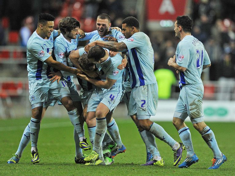 Celebrations for Coventry as they beat Rotherham.
