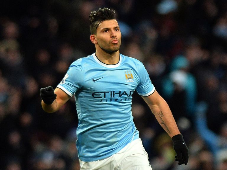 Sergio Aguero: Could make his return at Wembley on Sunday