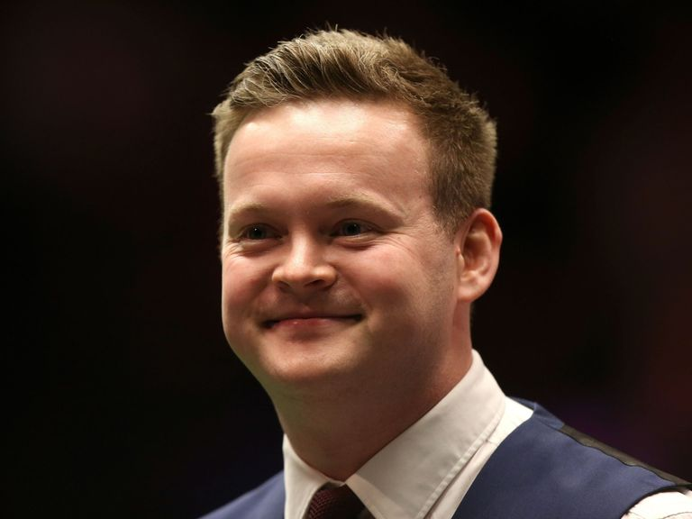 All smiles: Shaun Murphy moved into the last four in London