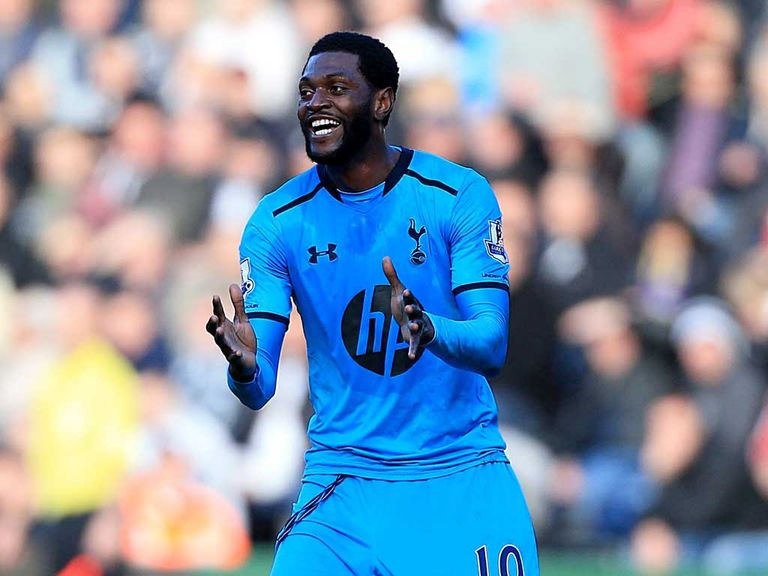 Emmanuel Adebayor: Seeing plenty of action under Tim Sherwood
