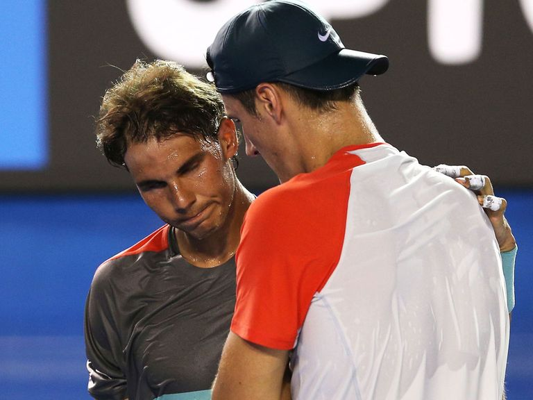 Rafael Nadal: Progressed after Tomic had to retire