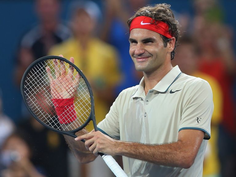 Roger Federer: Will face Lleyton Hewitt in the final of the Brisbane International