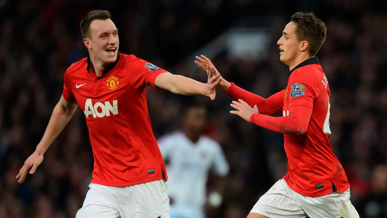 Phil Jones (L) and Adnan Januzaj could be key players for United going forward