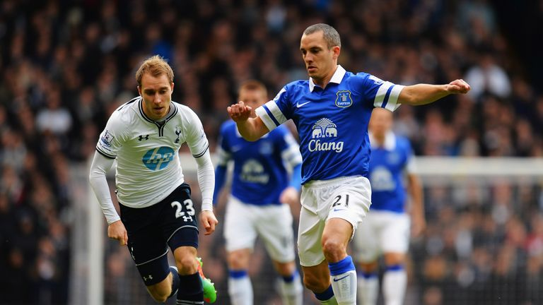 Leon Osman: Chased by Christian Eriksen