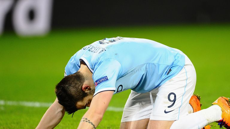 Alvaro Negredo: Manchester City striker has suffered a fractured metatarsal