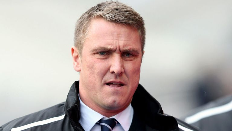 Lee Clark: Unhappy with referee James Linington