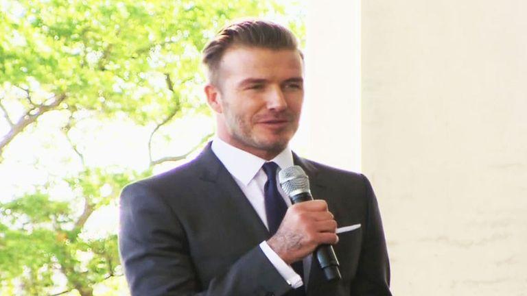 David Beckham: Has seen his Miami stadium plans rejected