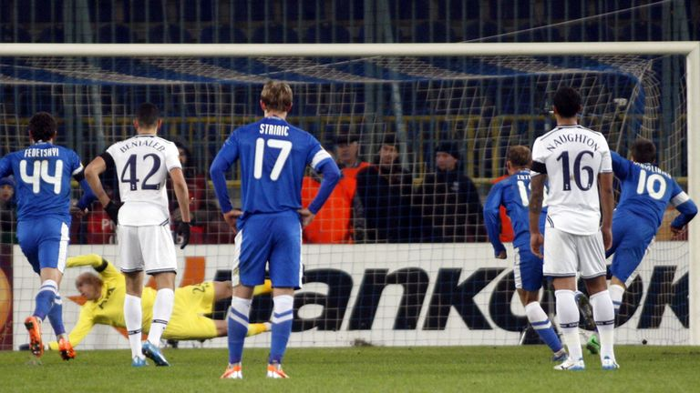 Dnipro scored the only goal from the penalty spot
