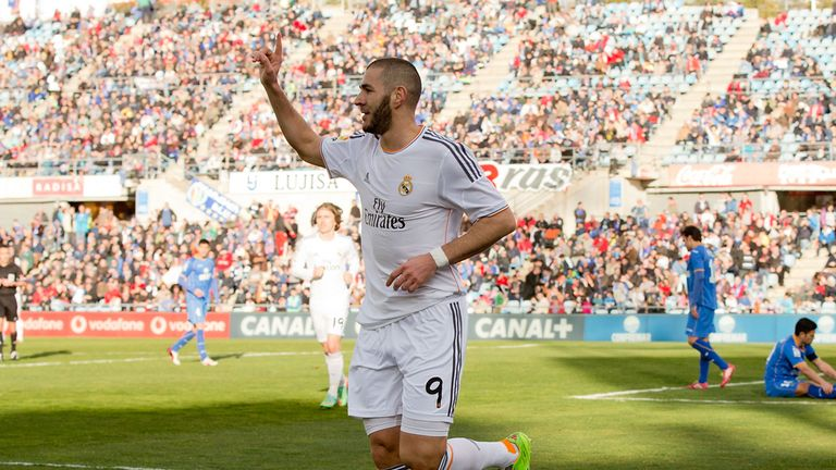 Karim Benzema: On target for Real Madrid in victory at Getafe