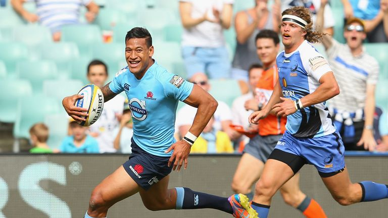 Israel Folau: Ran in a hat-trick in comfortable win