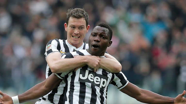 Kwadwo Asamoah celebrate for Juventus