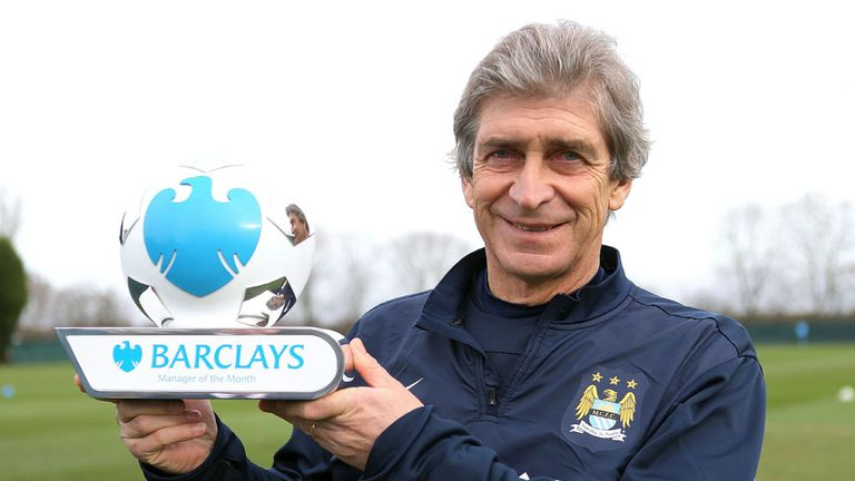 Manuel Pellegrini: Manchester City boss named manager of the month