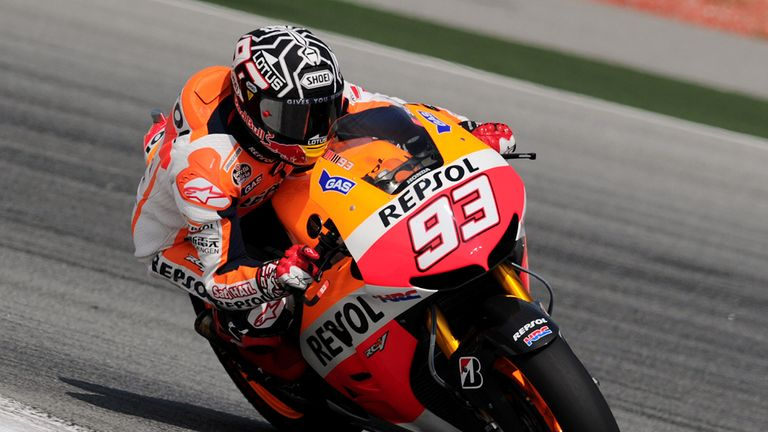 Marc Marquez: Fastest on day one in Malaysia