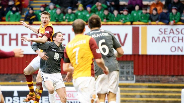 Stephen McManus: Heads Motherwell's late winner at Fir Park