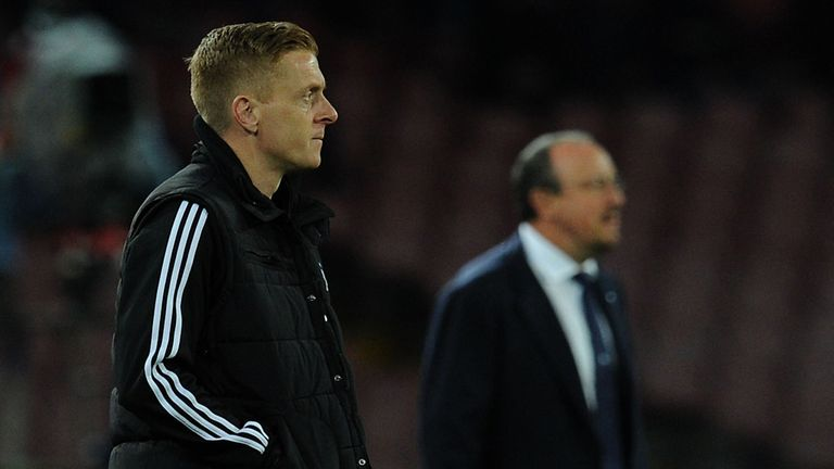 Garry Monk and Rafa Benitez: Watching on at San Paolo
