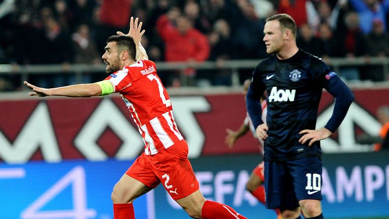 United were well below their best against an impressive Olympiakos, says Tony Cottee