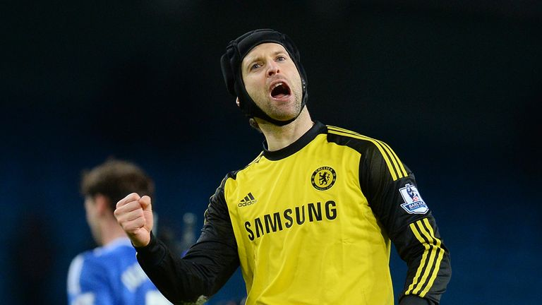 Petr Cech: Chelsea goalkeeper helped his side to victory over PSG