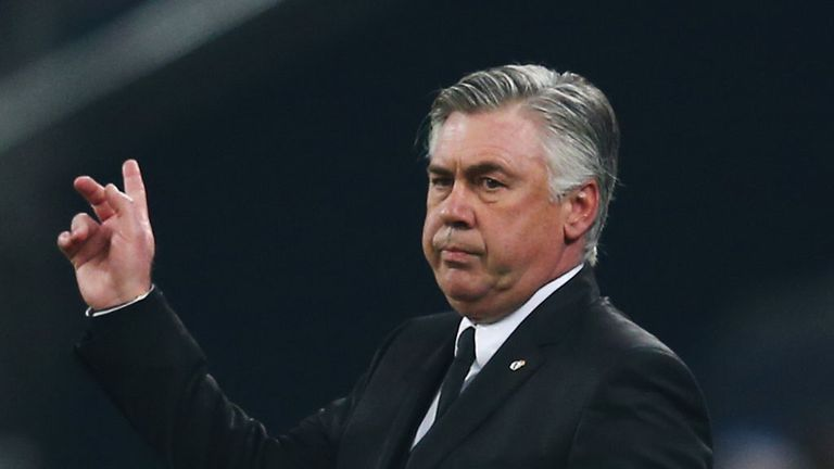 Carlo Ancelotti: Delighted with his side's battling nature