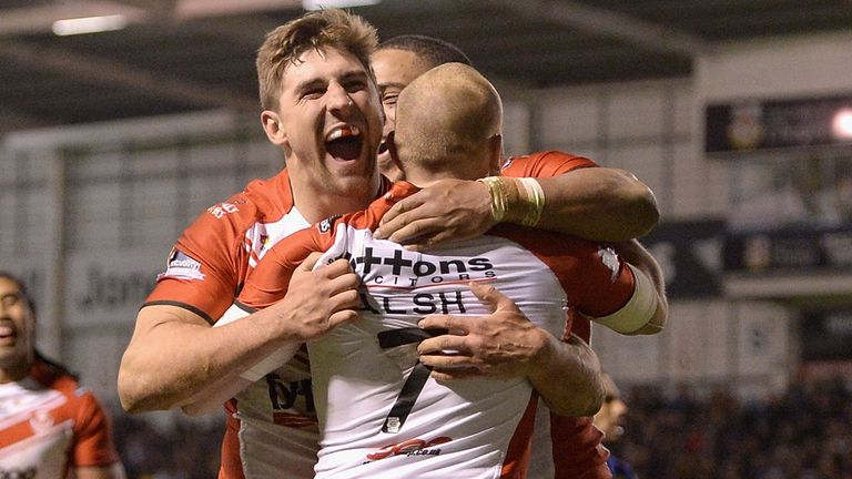 Tommy Makinson: Scored a hat-trick in St Helens' win over Widnes