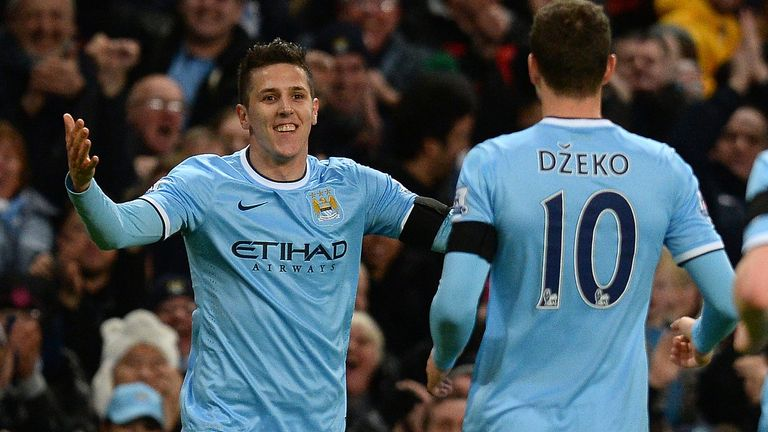 Stevan Jovetic: Happy at Man City