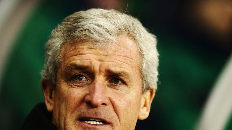 Mark Hughes: The Welshman is pleased with the depth in Stoke's squad