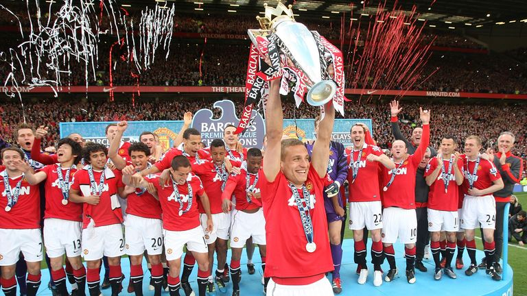 Vidic won five Premier League titles in his eight years at Old Trafford