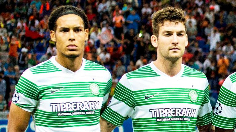 Virgil van Dijk (l): Gets backing from team-mate Charlie Mulgrew