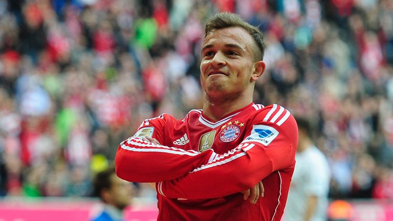 Xherdan Shaqiri: Urged to stay put at Bayern Munich
