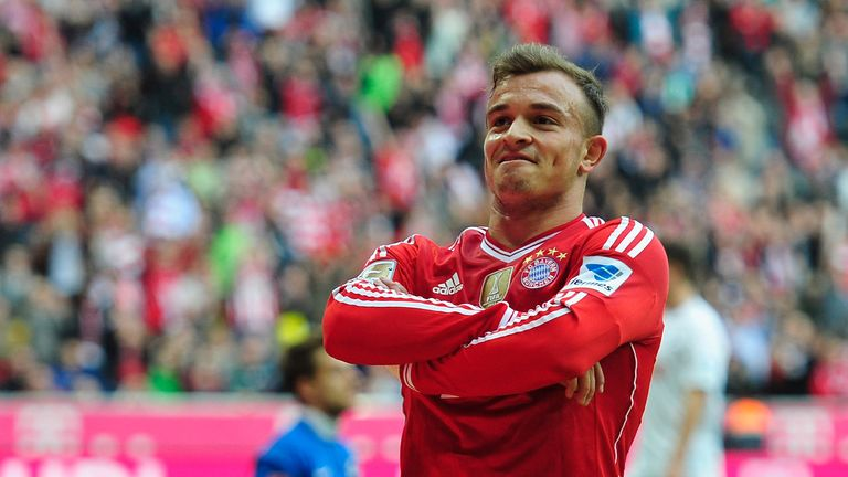 Xherdan Shaqiri: Netted two goals as Bayern moved 16 points clear in Germany