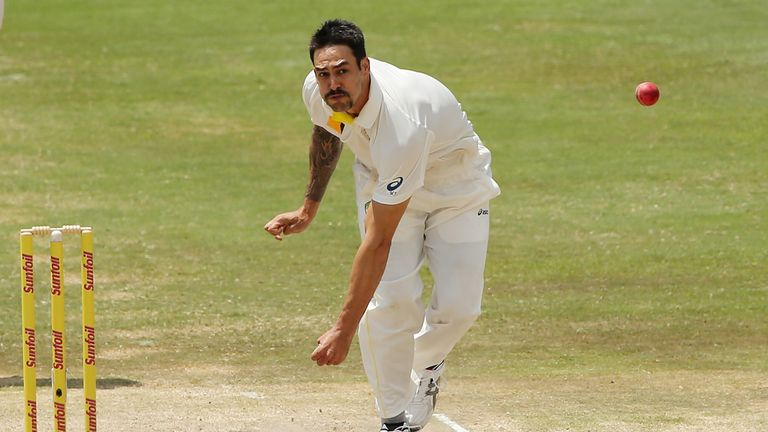 Mitchell Johnson: Australia seamer lets it fly at Centurion