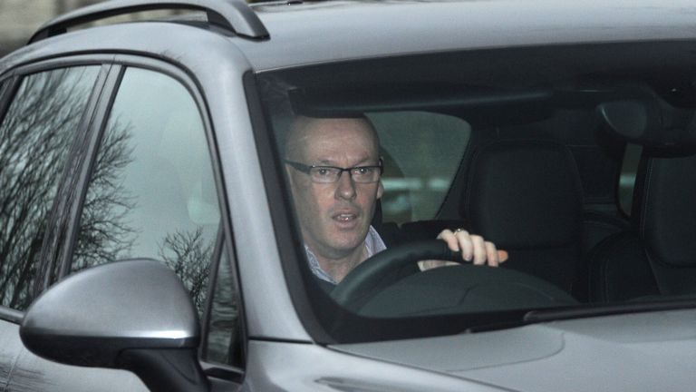 Brian McDermott arrives at the Leeds United training ground in days of controversy