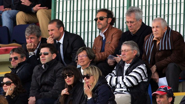 Massimo Cellino (top, centre): Closing on sale of Cagliari