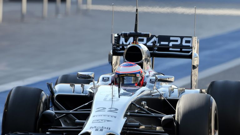 Jenson Button in the MP4-29