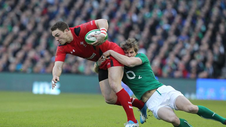 George North in action in Wales' Six Nations defeat to Ireland