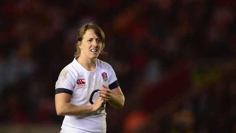 Katy McLean in action during the Autumn International match between England Women and Canada Women at Twickenham