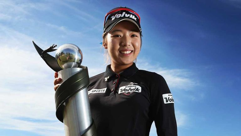 Mi Hyang Lee: South Korean star proudly displays the New Zealand Open trophy