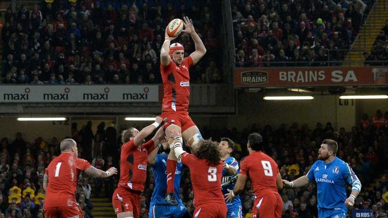 Dan Lydiate: Wales flanker in action against Italy