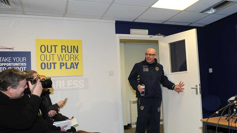 Brian McDermott arrives to face the media and explain the latest developments