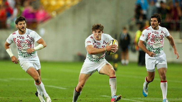 Phil Burgess: Hat-trick for England star in Moscow Sevens victory