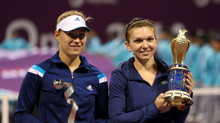 Simona Halep (right): Won in Doha to claim her first title of 2014