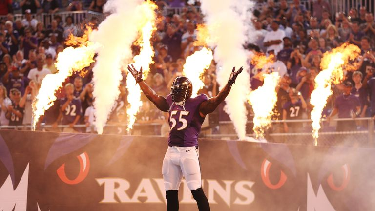 Linebacker Terrell Suggs will be remaining with the Baltimore Ravens